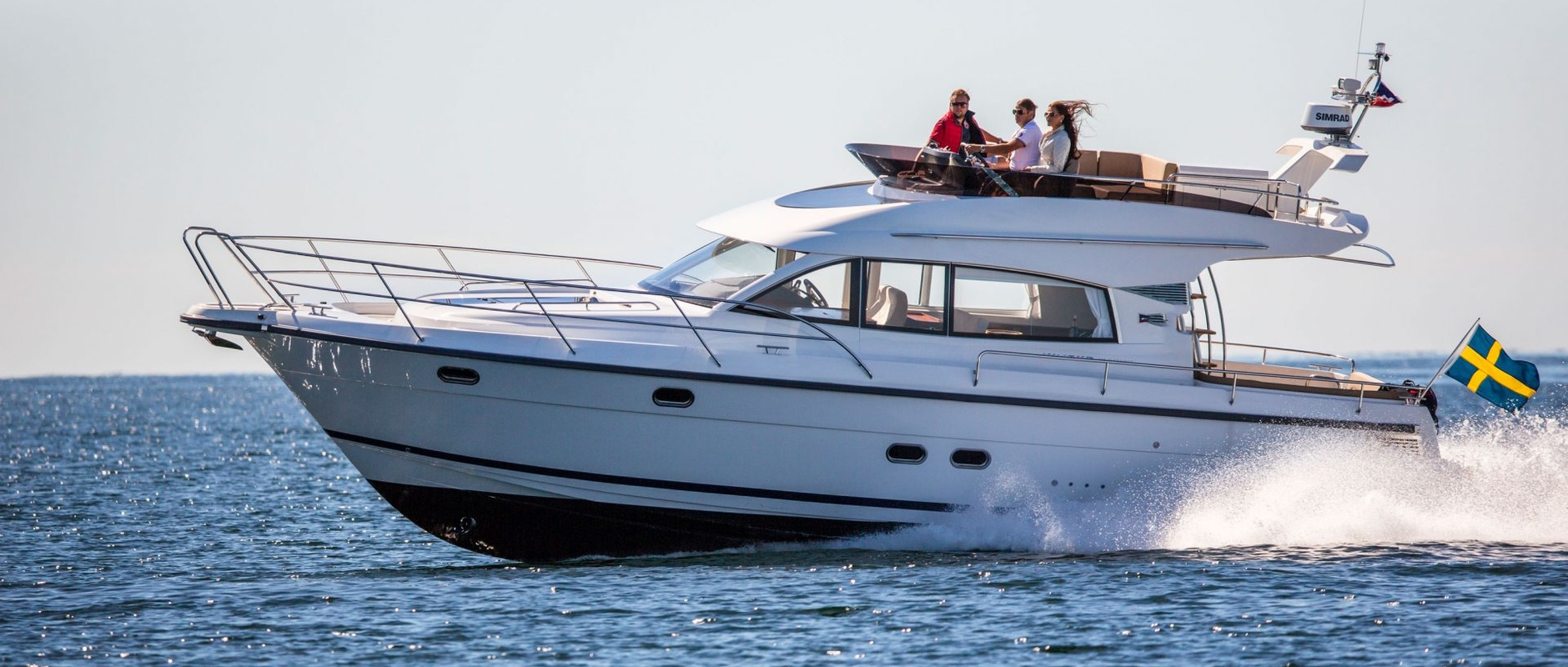 We talk in detail about an all-weather boat equipped with an open flybridge and a heating system