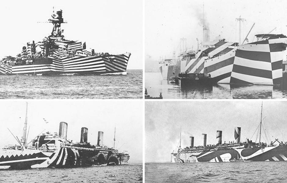 Ослепляющий камуфляж все-таки хорошо показал себя в военном и торговом флоте.