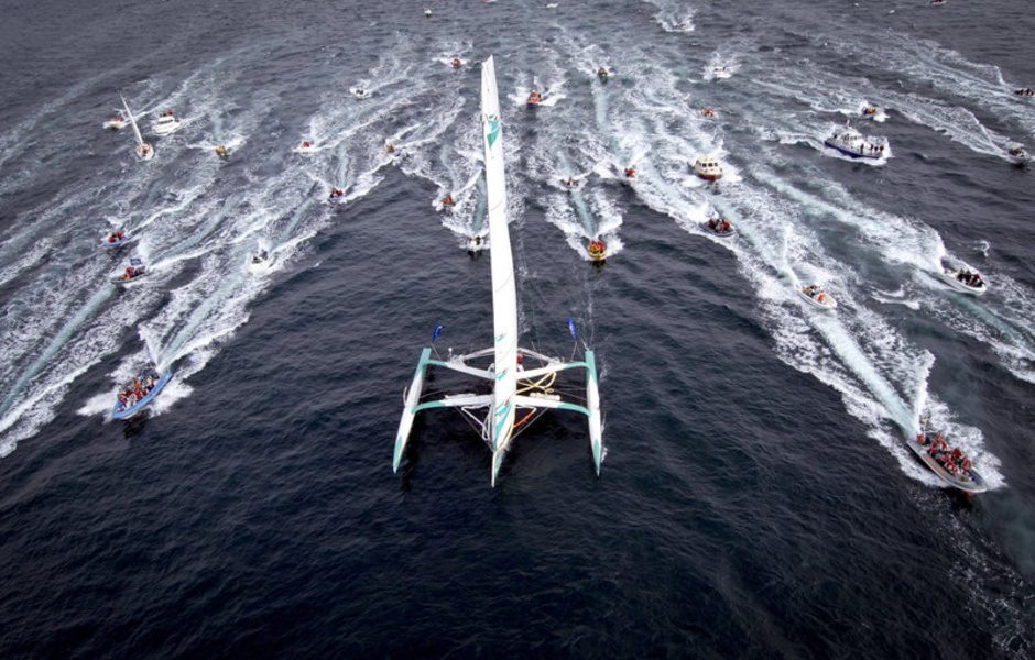 Старт трансатлантической регаты одиночек Route du Rhum. Фото: Getty Images