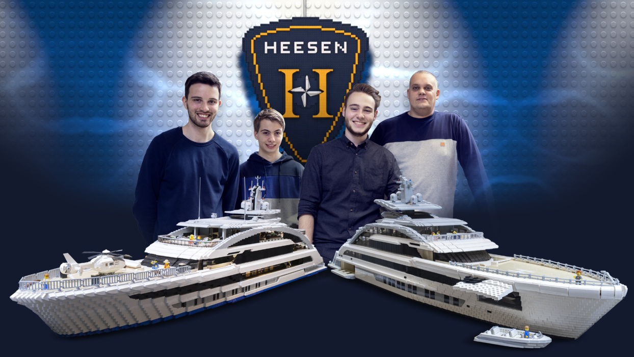 Heesen Project Cosmos created two teams as part of the model show. The online voting on the Heesen website will determine which team did better. The voting spectators themselves will also draw a big set of souvenirs from Heesen and LEGO.